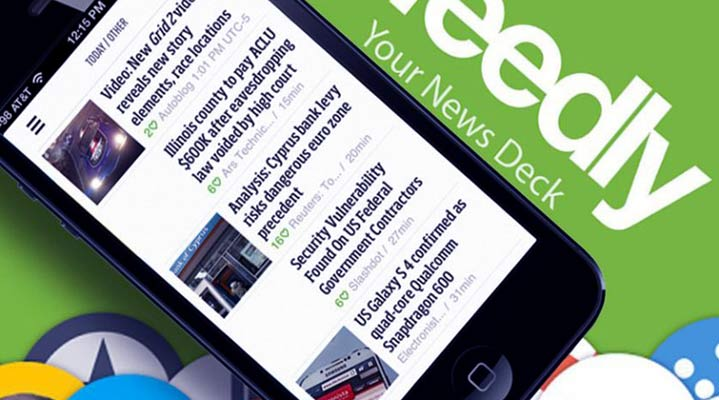 Smartphone News App Feedly